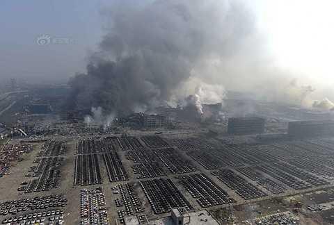 Truyền thông nhà nước Trung Quốc nói vụ viêc xảy ra tại một kho hàng chứa 'hóa chất nguy hiểm', thuộc cảng của thành phố Thiên Tân.