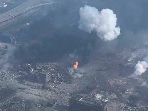 Vụ nổ kinh hoàng xảy ra lúc 23h30 (giờ địa phương) ngày 12/8