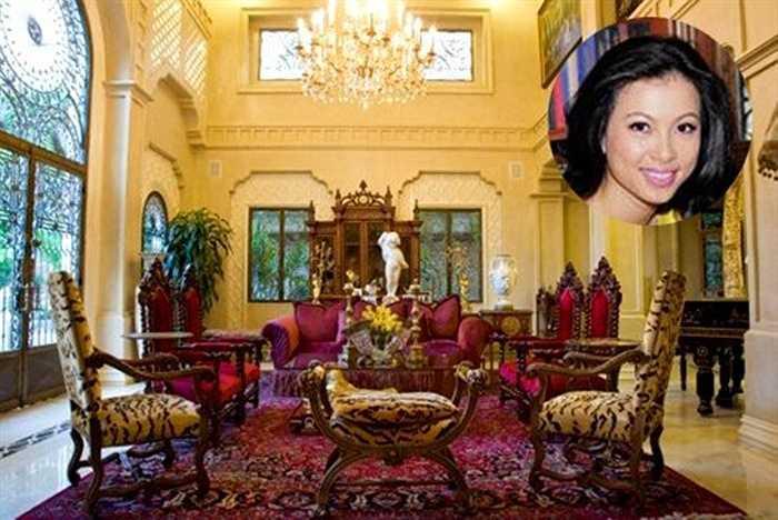 Thiết kế và bài trí lộng lẫy, biệt thự phong cách hoàng gia của người mẫu - hoa hậu thời trang quốc tế Ai Cập (năm 1999) trị giá 300 tỷ đồng.