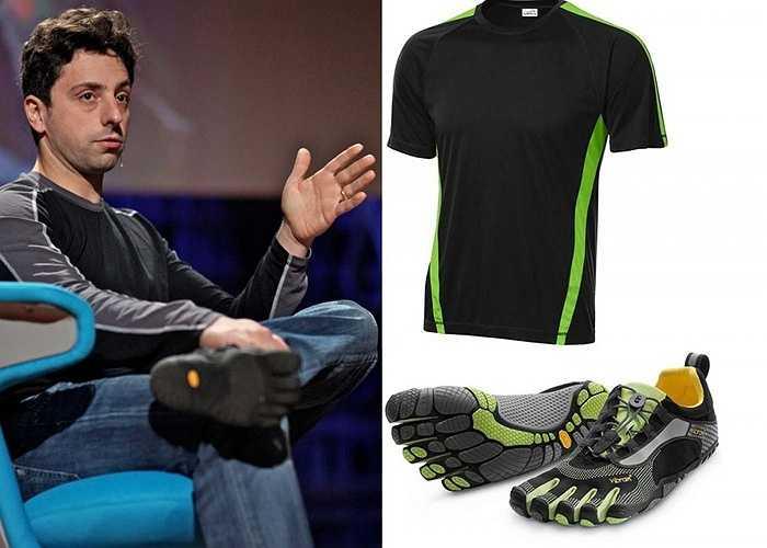 Khi đã xây dựng Google thành đế chế tỷ đô, Brin vẫn giữ niềm đam mê với thể dục thể thao của mình. Anh thường mặc quần áo tập thể dục, đi giầy Vibram, thường xuyên tập yoga giữa các buổi họp hay đi bằng tay để giải trí.