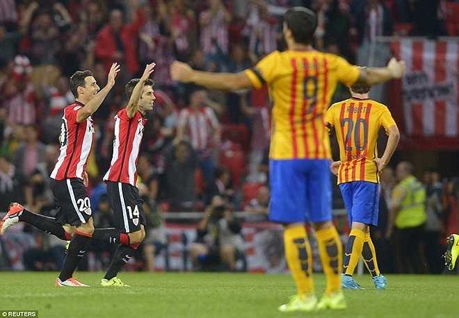 Nỗi thất vọng của thầy trò HLV Luis Enrique lên tới đỉnh điểm sau khi Aduriz lập hat-trick trong vòng 15 phút (53', 62' và 68'). Đây là lần thứ hai liên tiếp Barcelona để thủng lưới 4 bàn trong một trận đấu.