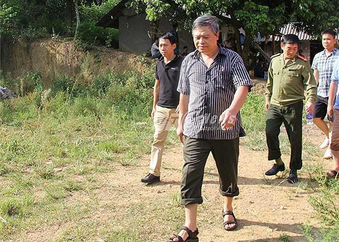 Thiếu tướng Đặng Trần Chiêu, giám đốc công an tỉnh Yên Bái cũng có sớm có mặt tại hiện trường.