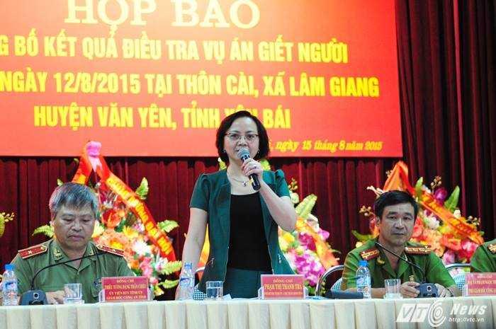 Bà Phạm Thị Thanh Trà, Phó Bí thư, Chủ tịch UBND tỉnh Yên Bái chia sẻ với báo chí.