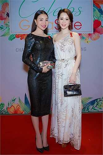 Chiếc váy hàng hiệu giúp người đẹp khoe sắc vóc khi đọ dáng bên Trà Ngọc Hằng.