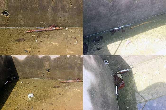 Theo quan sát của PV, ngay vị trí bể nước nằm ở phần sân phía dưới tượng đài, có ít nhất 5 bơm, kim tiêm mà các con nghiện đã sử dụng. Thông tin từ Công an huyện Vũ Quang cung cấp, trước đó, đã bắt giữ một số đối tượng sử dụng ma túy tại khu vực tượng đài.