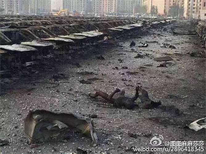 Xác nạn nhân trong vụ nổ hóa chất ở Thiên Tân