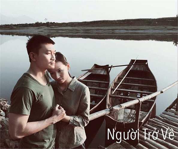 Cảnh quay chung với Tiến Lộc mà cô nhớ nhất là đoạn San chạy trong mưa bão đến nhờ Mây đỡ đẻ cho vợ mình.