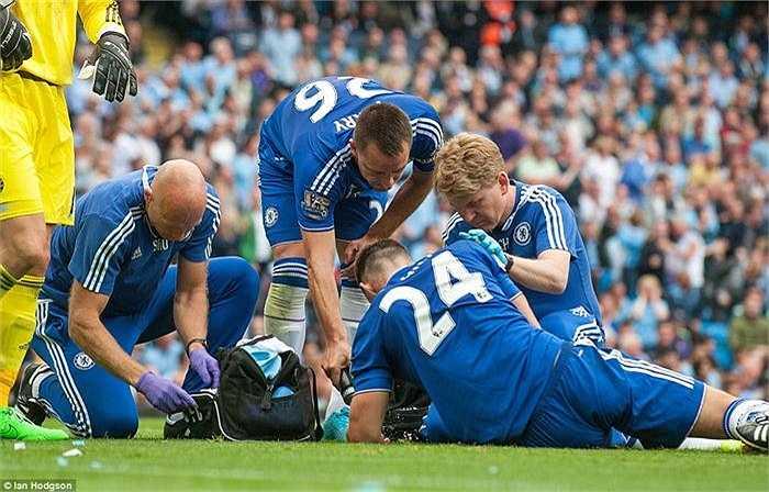 Chelsea dường như đang gập vận hạn về những chấn thương trong trận đấu