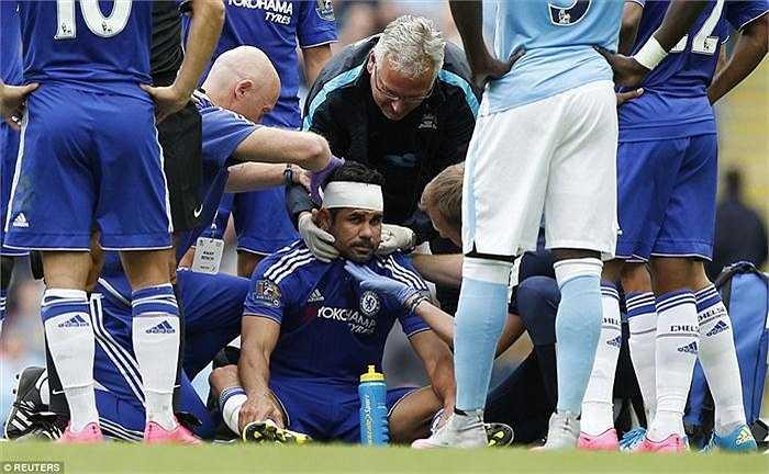 Diego Costa băng trắng đầu sau một tình huống tranh chấp