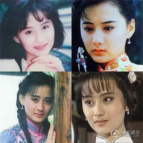 Vẻ đẹp của ngọc nữ Quỳnh Dao trong thập niên 1990 - Trần Đức Dung. Với đôi mắt to tròn, sống mũi cao và khuôn miệng nhỏ xinh, cô đóng chính trong loạt phim Mai hoa lạc, Giấc mộng sau rèm…