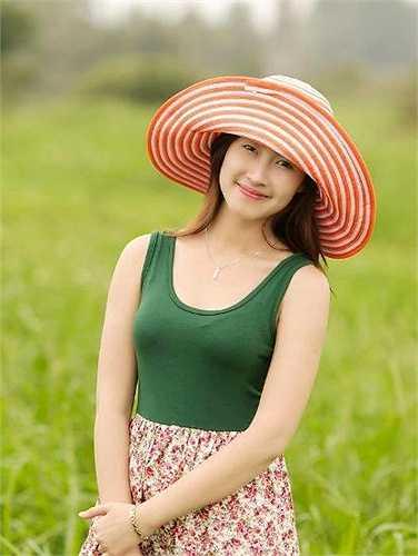 Câu nói yêu thích của nữ sinh dễ thương: 'Hãy học cách sống hạnh phúc với những gì bạn có trong khi vẫn theo đuổi những gì bạn muốn'.