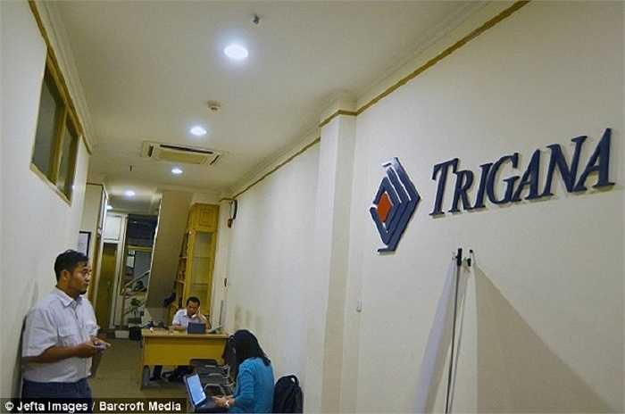 Bên trong trụ sở hãng hàng không Trigana Air