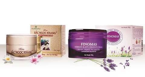 Kem Sắc Ngọc Khang và kem FINOMAS chính hiệu của Công ty Cổ phần Dược phẩm Hoa Thiên Phú
