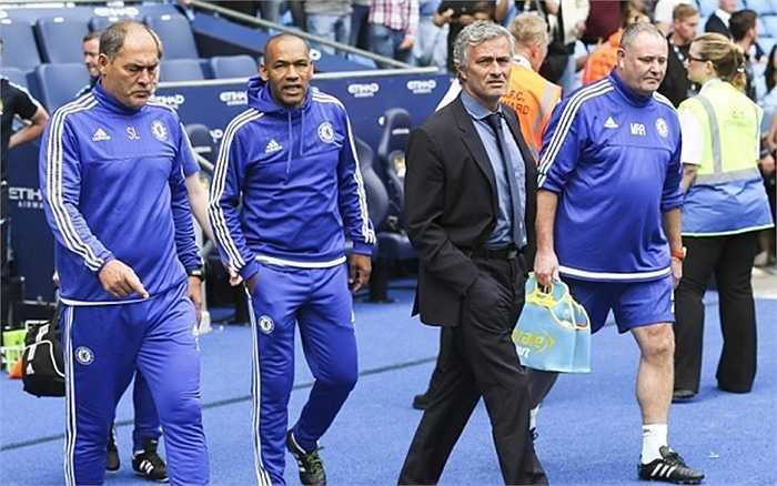 Mourinho cùng BHL đội khách vội vã rời Etihad ngay sau trận đấu kết thúc