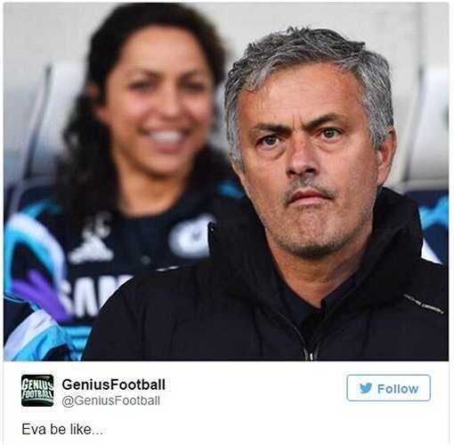 Eva Carneiro có lẽ sẽ phấn khởi thế này khi thấy Mourinho
