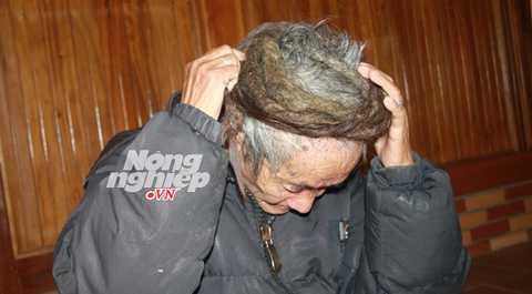 Hằng ngày lão Páo phải cuốn mái tóc lại quanh đầu