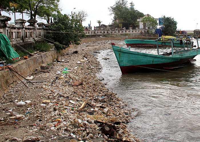 Phú Quốc - được mệnh danh là 'đảo ngọc' của Việt Nam - có lượng du khách tăng cao theo từng năm. Tuy nhiên, tình trạng ô nhiễm môi trường ở đây cũng đáng báo động khi đến đâu người ta cũng thấy rác. Cạnh Khu di tích Dinh Cậu tại thị trấn Dương Đông, một bãi rác dạt vào bờ không được thu dọn, cách đó một con đường là bãi tắm.