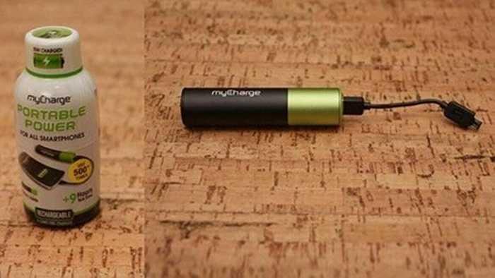 Sạc mini myCharge Energy Shot. Đây là sản phẩm sạc pin nhỏ nhất trên thị trường hiện nay, giá thị trường của nó chỉ là 20 USD.