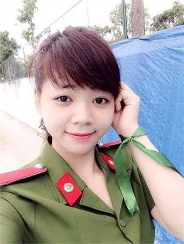 Ánh Nguyệt quê ở Thanh Sơn, Phú Thọ và hiện đang học lớp B12 - Cảnh sát điều tra tội phạm môi trường.