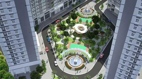 Phối cảnh dự án Xuan Mai Sparks Tower