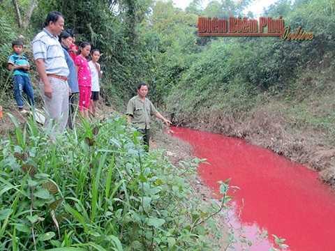 Đoạn suối người dân phát hiện tình trạng nước suối bị ô nhiễm