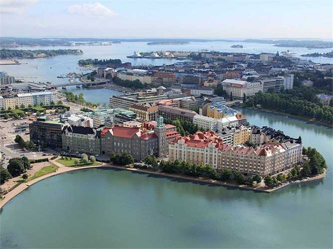 2. Helsinki ở Phần Lan được xếp thứ hai bảng xếp hạng châu Âu và xếp thứ 10 trên bảng xếp hạng toàn cầu.