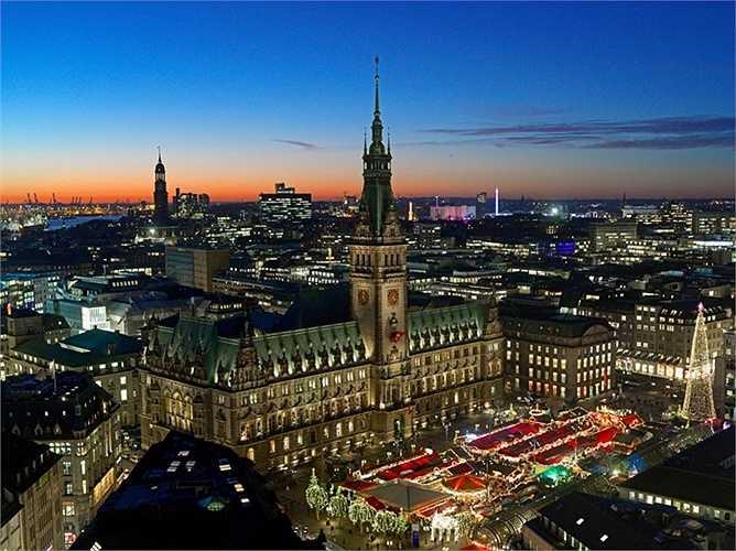 5. Hamburg - thành phố của nước Đức được xếp hạng cao nhất trong danh sách này.