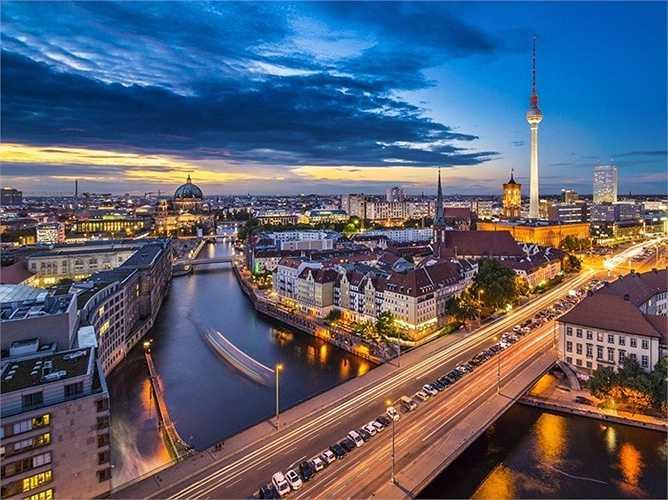 7. Berlin - Thủ đô của nước Đức chỉ được đứng thứ 7 bảng xếp hạng trong châu Âu và xếp thứ 20 trên toàn cầu.