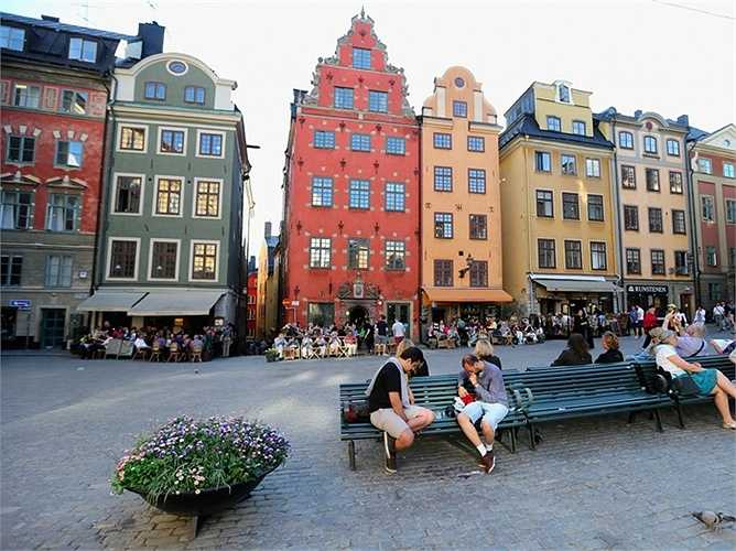 10. Stockholm - Thủ đô của Thụy Điển xếp vị trí thứ 10 bảng xếp hạng.