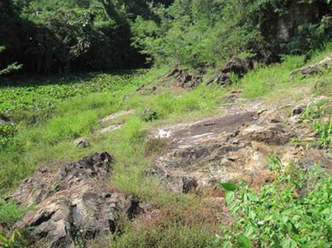 Dấu tích khu vực mộ bà Hiếu Túc Phu nhân bị đào bới năm 1911