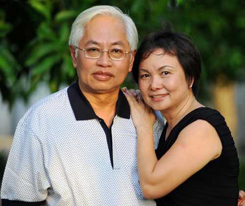 Vợ chồng ông Trần Phương Bình và bà Cao Thị Ngọc Dung