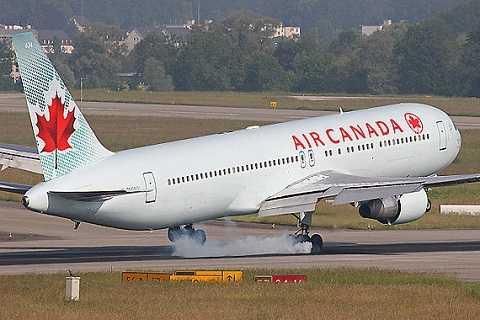 Một máy bay của hãng hàng không Air Canada