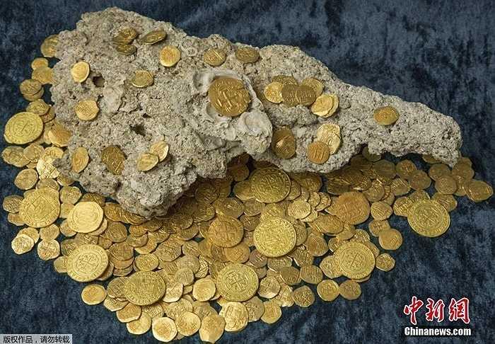 Con tàu bị đắm năm 1715 ở biển Đại Tây Dương vừa được phát hiện cuối tháng 7 mang trong mình nhiều vàng, trang sức