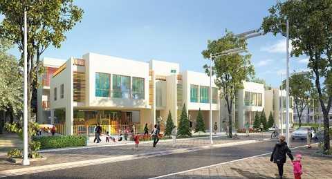 Tại Goldsilk Complex trẻ em được chăm sóc, học tập và vui chơi tại khu nhà trẻ rộng 1.972 m2