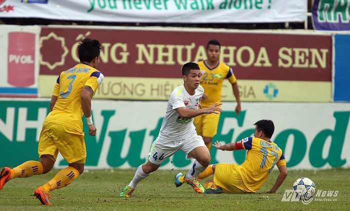 HAGL vào trận với SLNA ở vòng 22 V-League với quyết tâm và khao khát rất lớn. (Ảnh: Minh Trần)