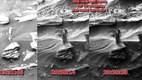 Người phụ nữ bí ẩn đứng yên trong 16s ở đoạn video từ sao Hỏa