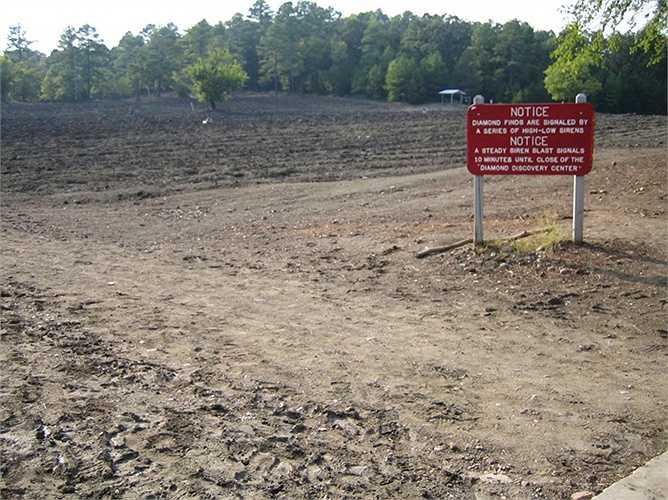 Crater of Diamonds ở Murfreesboro, Arkansas, Mỹ là nơi mở cửa cho mọi người vào tìm kim cương. Nơi đây từng là miệng núi lửa cách đây hàng ngàn năm
