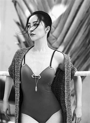 Diễn viên múa Linh Nga hiếm khi khoe vẻ đẹp sexy. Cô không phải tuýp diễn viên thích khoe cơ thể.