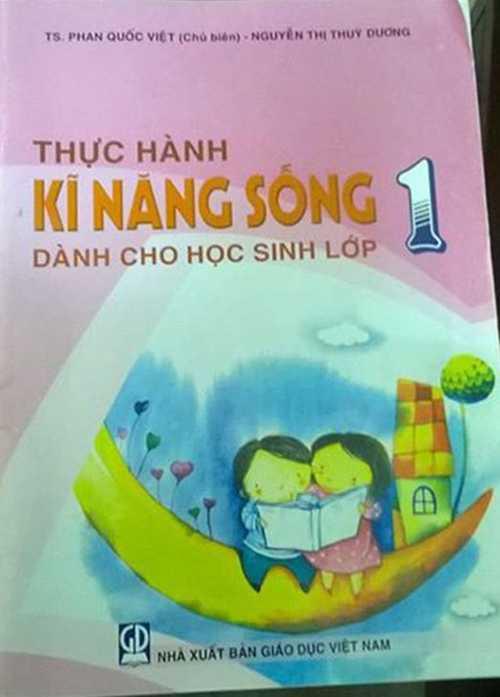Bìa cuốn sách Thực hành kĩ năng sống dành cho học sinh lớp 1 do TS. Phan Quốc Việt chủ biên