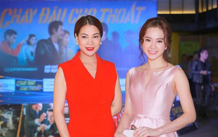 Xuất hiện trong buổi ra mắt phim 'Chạy đâu cho thoát', Angela Phương Trinh diện chiếc váy bồng bềnh lộng lẫy.
