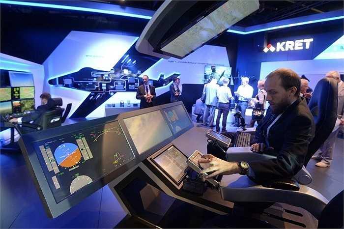 Khu vực trưng bày của hãng công nghệ vô tuyến điện tử