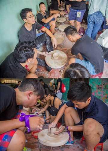 Tại làng gốm Bát Tràng với thử thách nặn gốm theo mẫu và tìm ghép vòng gốm đủ chữ R.M.I.T