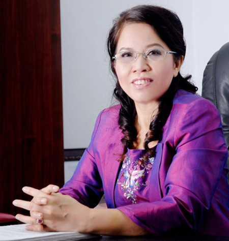 """Bà Ninh Thị Ty – """"Bà chủ"""" của Tổ hợp Trung tâm thương mại và nhà ở cao cấp Hồ Gươm Plaza."""