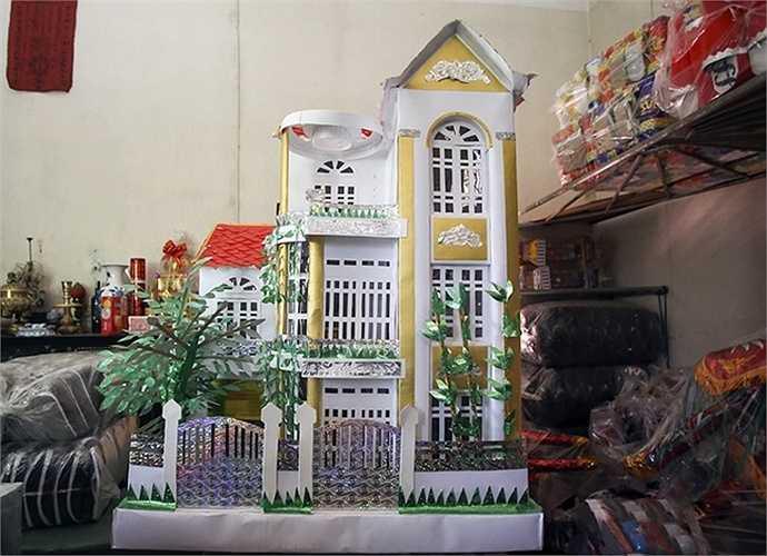 Ngôi biệt thự khang trang, lộng lẫy được người dân Đông Hồ (Thuận Thành, Bắc Ninh) sản xuất(Ảnh: VnExpress)