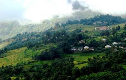 Khu vực xã Ý Tý, huyện Bát Xát, tỉnh Lào Cai nơi xảy ra vụ án mạng. (Ảnh: Tuổi trẻ)