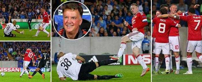 Cả 4 bàn thắng của Man Utd vào lưới Club Brugge đều xuất phát từ những tình huống tấn công trung lộ