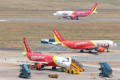 Hiện tại Vietjet đang khai thác 26 tàu bay A320 và A321, thực hiện 165 chuyến bay mỗi ngày