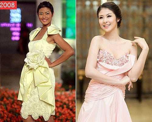 Hoa hậu Ngọc Hân cũng đã lột xác thành công giống như 'đàn chị' Mai Phương Thuý.
