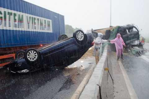 Hiện trường vụ tai nạn - Ảnh: Tấn Lực