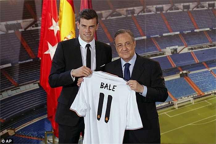 Gareth Bale gia nhập Real Madrid với giá 85 triệu bảng và báo chí ANh tin rằng anh là cầu thủ đắt giá nhất thế giới hiện nay